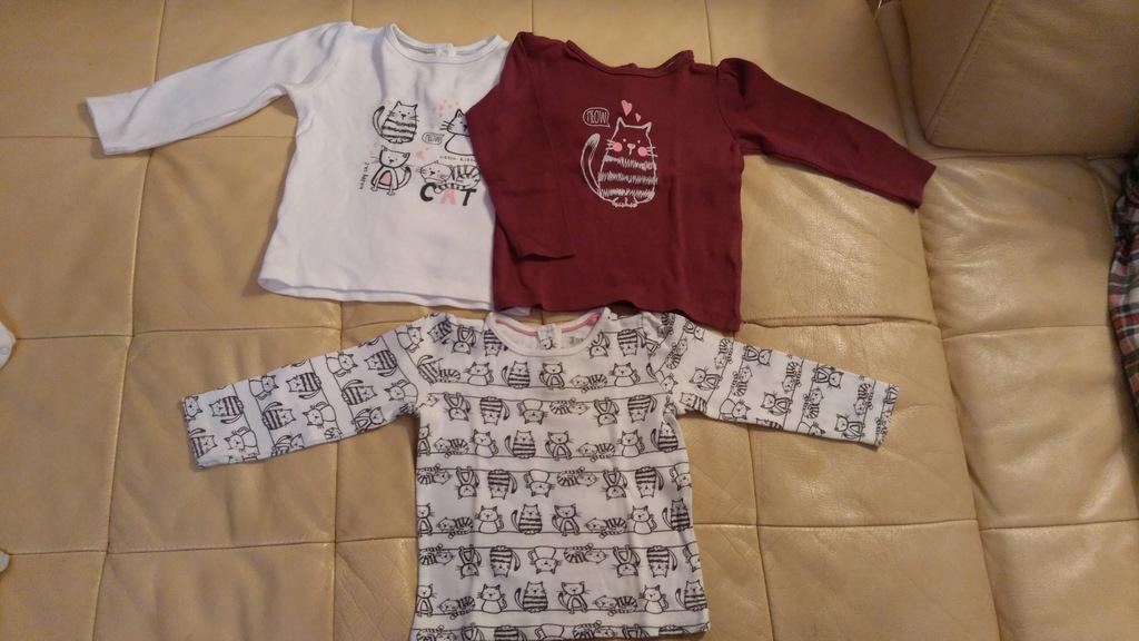 Bluzeczki dla dziewczynki LUPILU r. 74/80