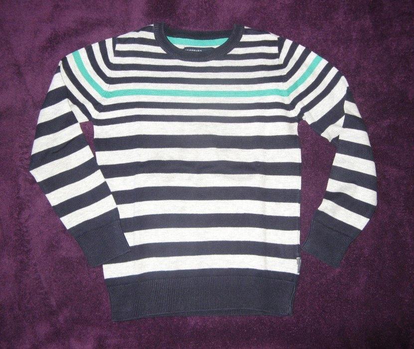RESERVED Sweter chłopięcy w paski 122 / 6-7 lat