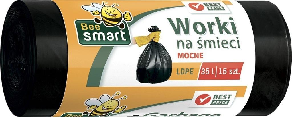 Worki na śmieci Bee Smart 35l a15 ldpe