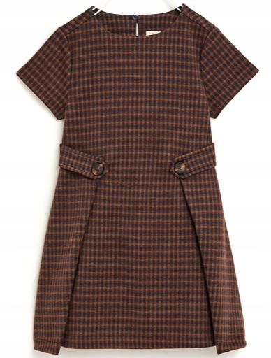 ZARA żakardowa sukienka kratka 110 5 lat