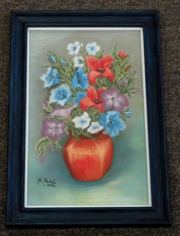 """Obraz """"Kwiaty"""" autorstwo Wanda Wolak"""
