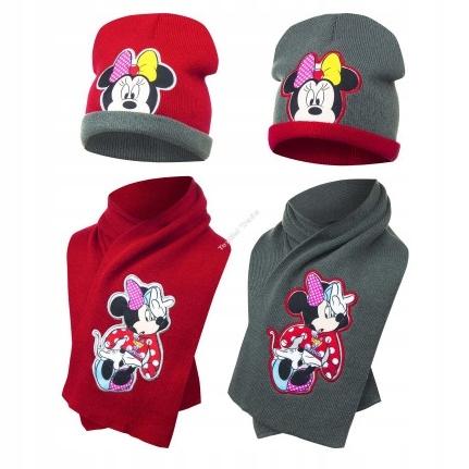 czapka + SZALIK KOMPLET Myszka Minnie Miki Disney