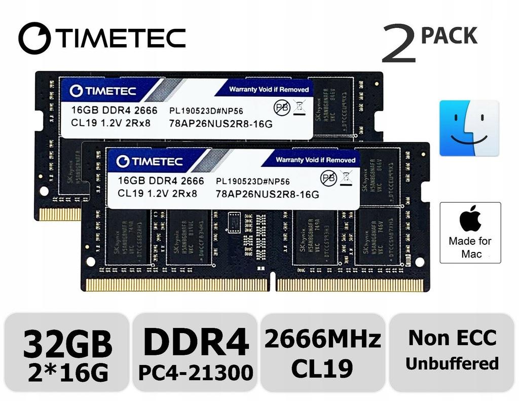 Pamięć Ram TIMETEC 32GB (2x16GB) DDR4 2666 CL19