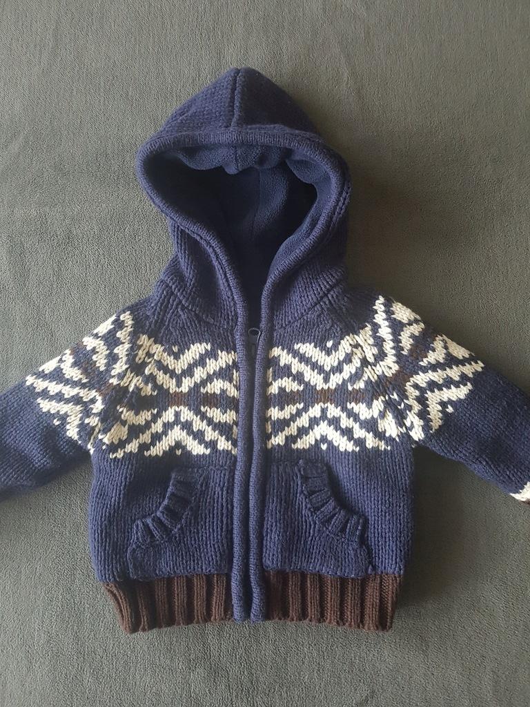 EARLY DAYS_chłopięcy ocieplany sweterek_6/12 mies