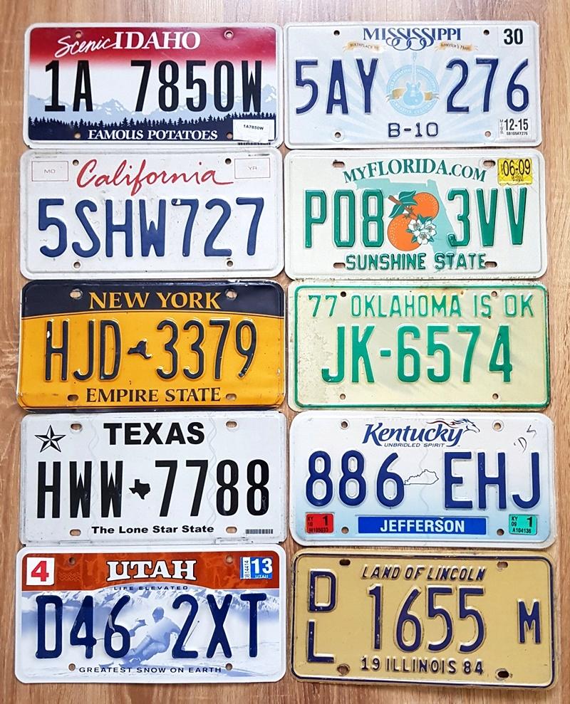 Tablice Rejestracyjne Z Usa Zestaw 10 Szt 8004818844 Oficjalne Archiwum Allegro