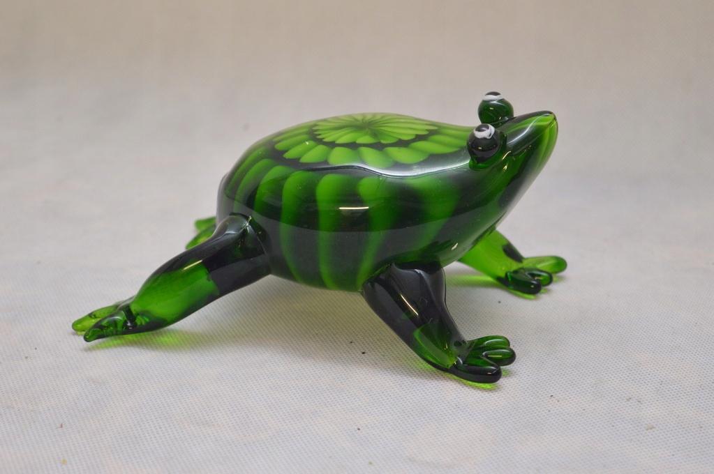 Szkło Murano GLASS - DOSTOJNA żaba żabka UNIKAT