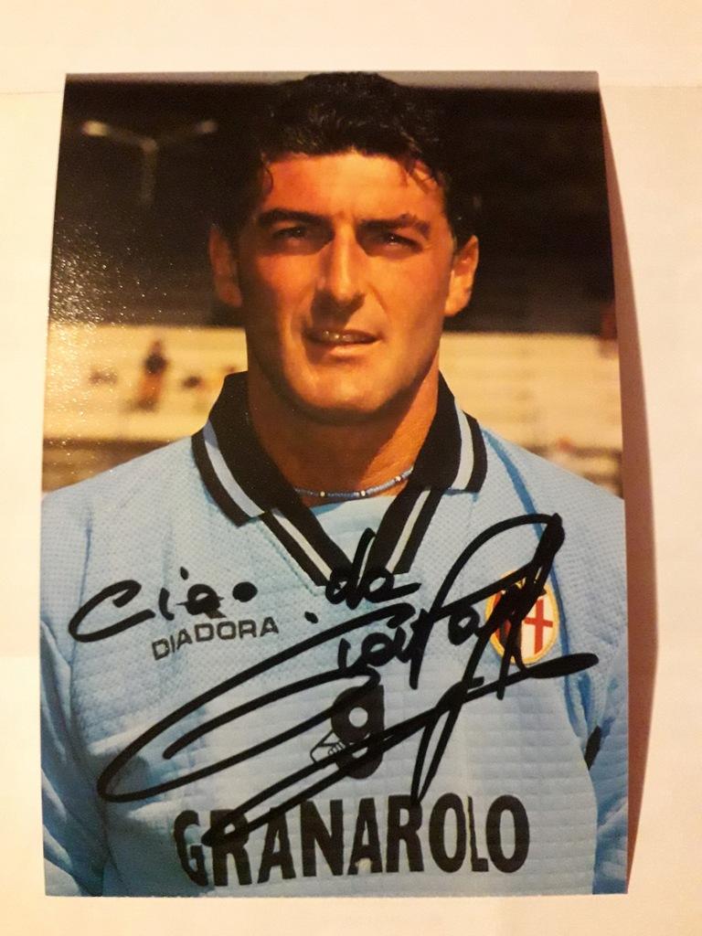 Gianluca Pagliuca, Bologna, zdjęcie z autografem