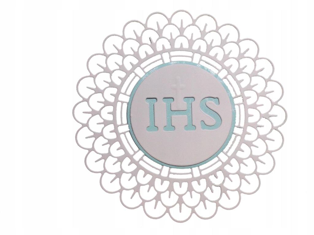 Scrapki KM010 komunia IHS kwiatek