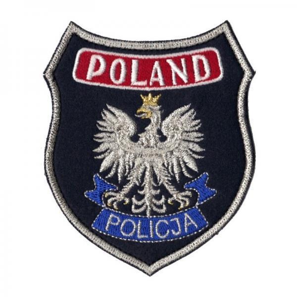 POLICJA Naszywka duża POLAND POLICJI granatowa