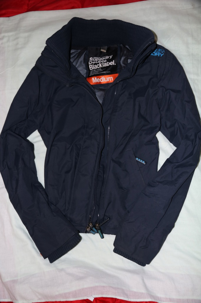Superdry Double Blacklabel roz. M granatowa