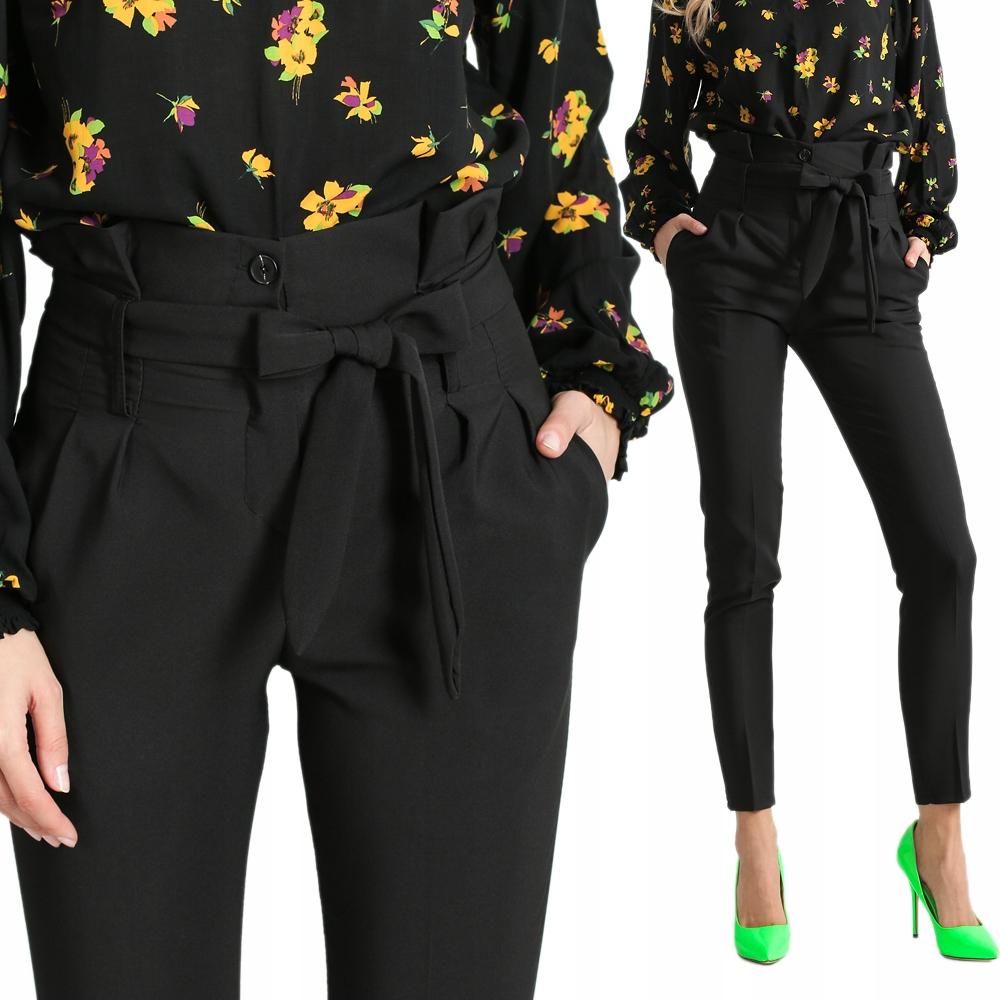 Eleganckie spodnie z kantem wysoki stan H99 KOLORY