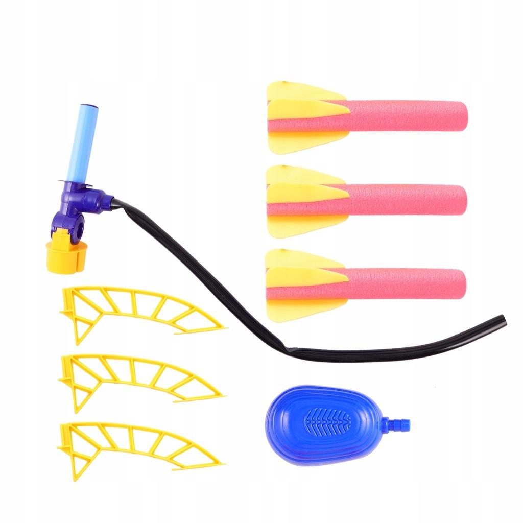 Dzieci Pneumatyczna wyrzutnia rakiet Zabawka Miękk