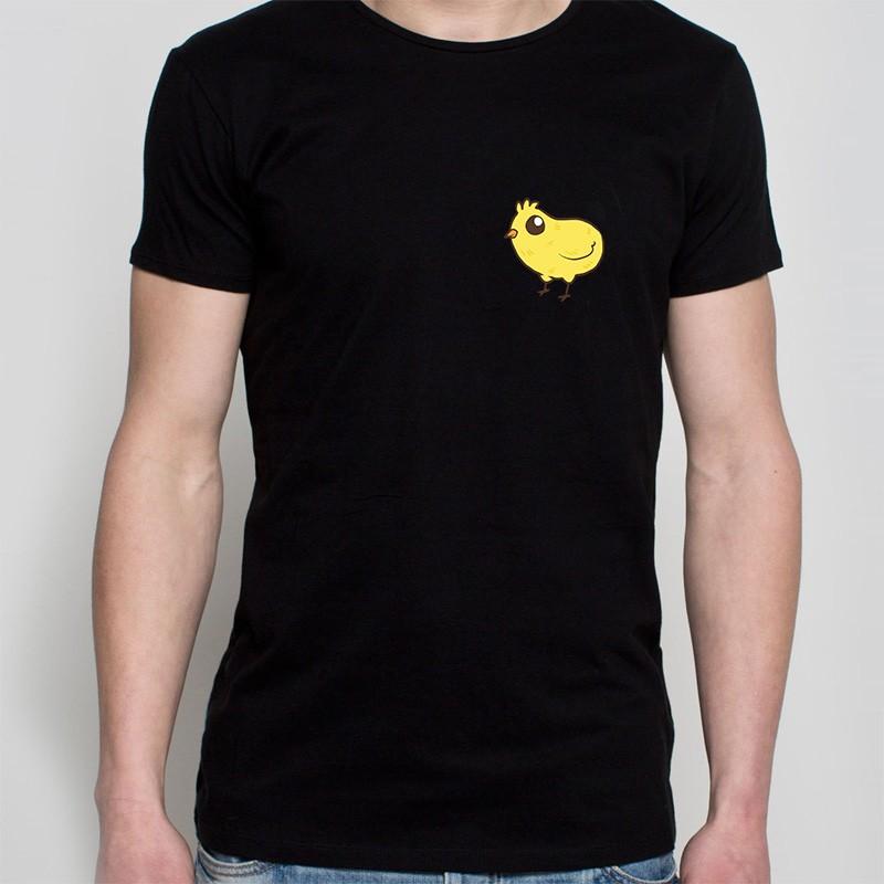 koszulka czarna - kurczaczek