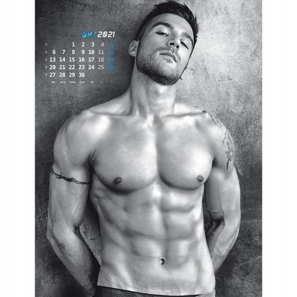 chłopaki sexy mężczyźni bad boys kalendarz 2021