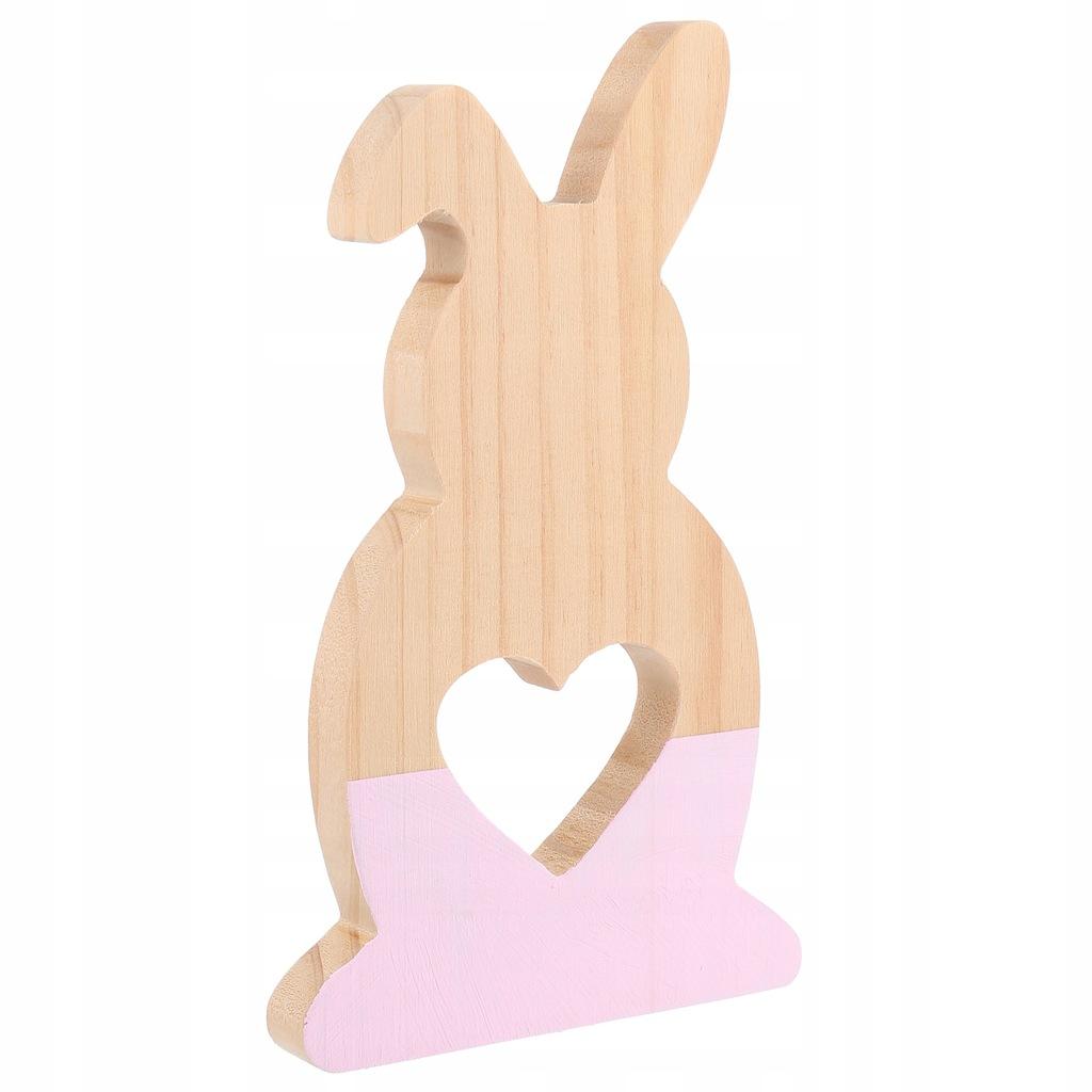 1 szt Hollow Out Rabbit Ozdoba Drewniany pulpit De