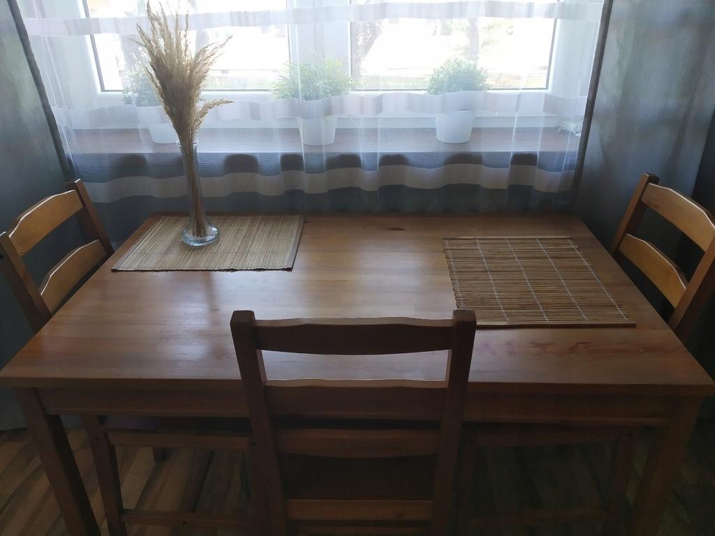 JOKKMOKK Stół i 3 krzesła, bejca patynowa IKEA