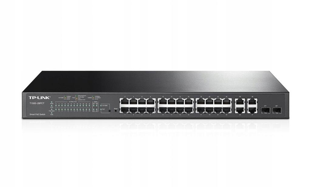 TP-LINK T1500-28PCT switch 24xFE PoE+ 4xGE 2xSFP