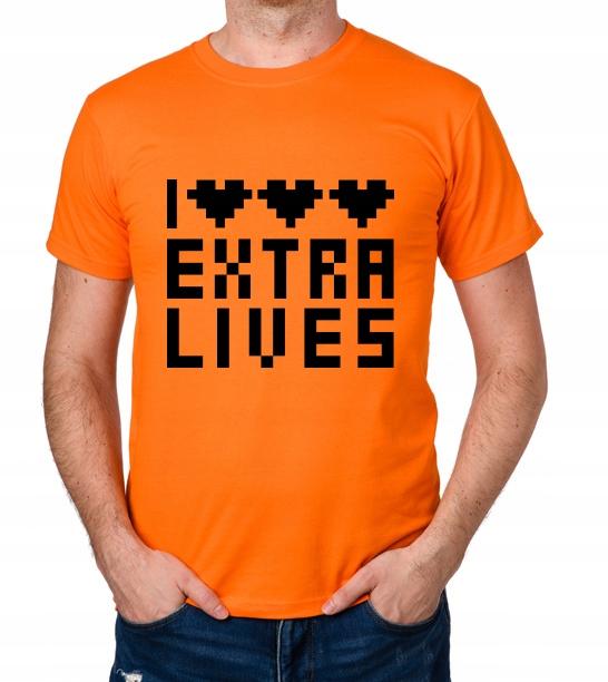 koszulka I LOVE EXTRA LIVES prezent