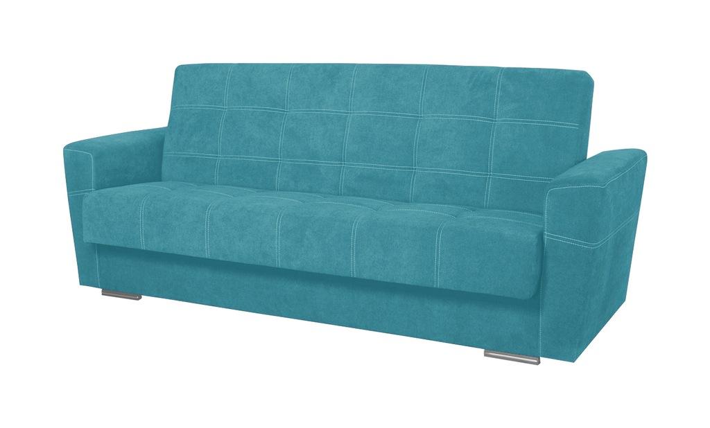 Wersalka PORTO turkusowa kanapa sofa spanie RIBES