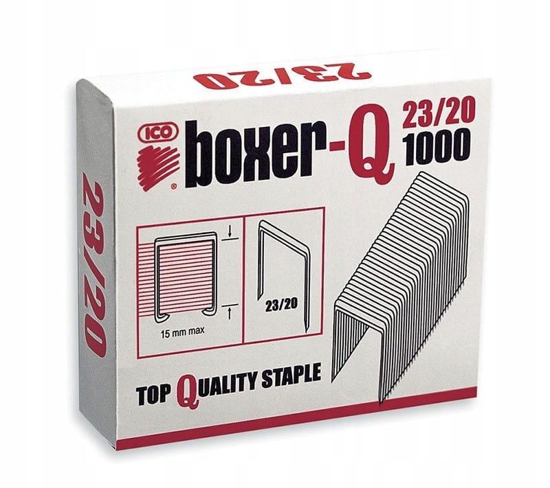 Zszywki ICO Boxer, 23/20, galwanizowane, 1000szt.
