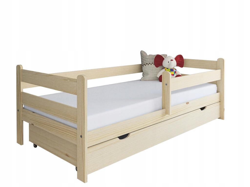 Łóżko dla dziecka z drewna Kevin 160x80 sosna