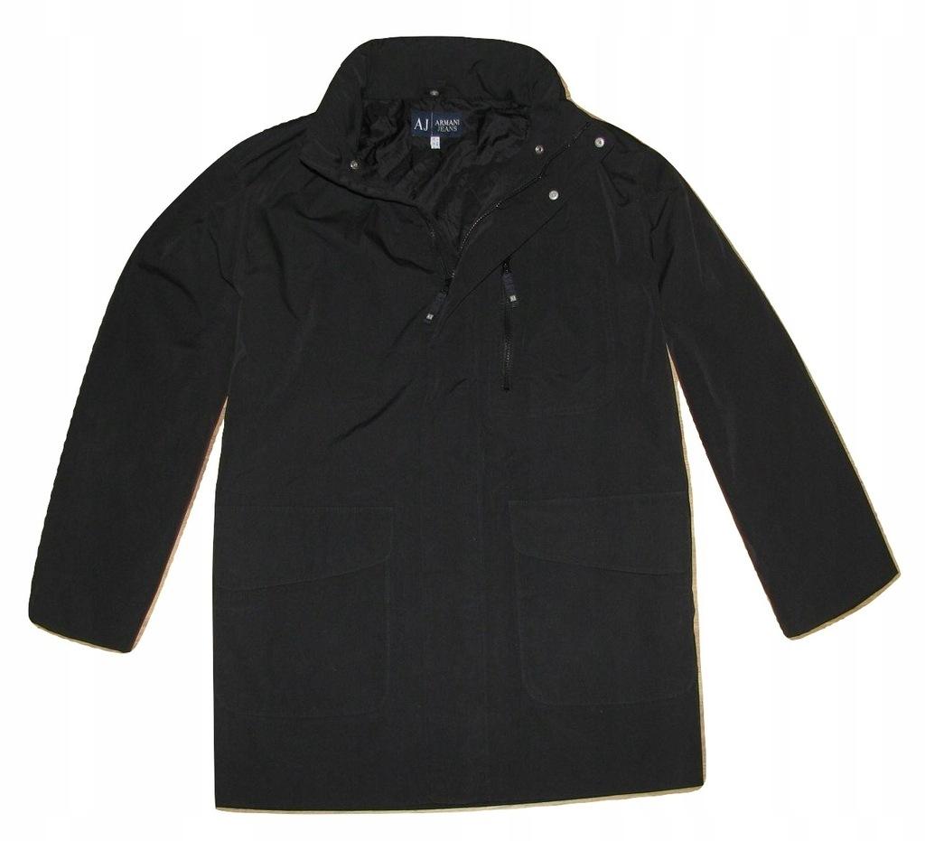 ARMANI JEANS męska kurtka płaszcz z kapturem XL
