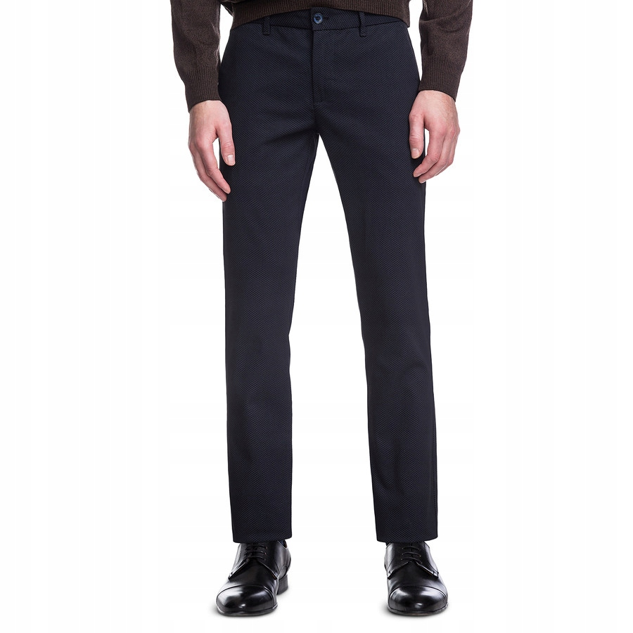 Czarne spodnie casual slim 170/90