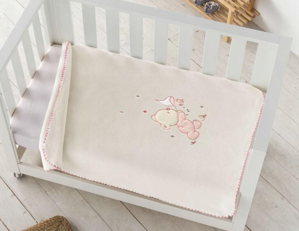 Pielsa Baby|Koc dziecięcy premium otulacz MOTYLEK2
