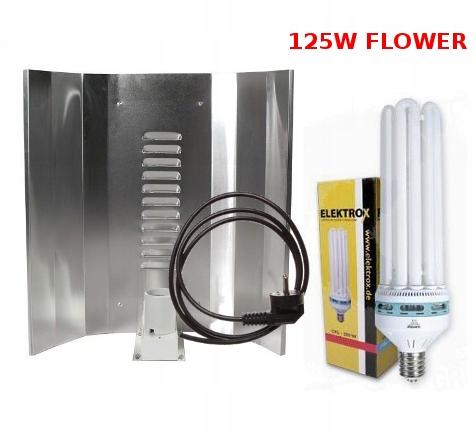 ZESTAW CFL125W LAMPA ODBŁYŚNIK ELEKTROX KWITNIENIE