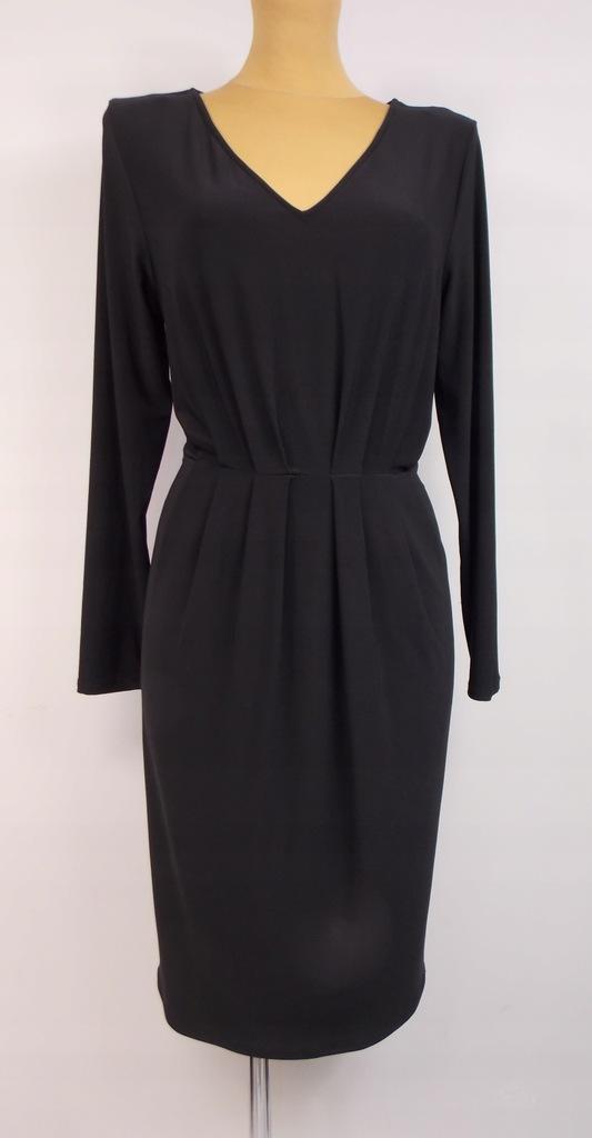 sukienka M&S klasyczna czarna biuro WESELE 42