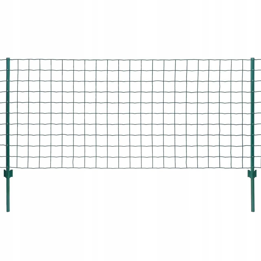 Euro ogrodzenie, 20 x 1,5 m, kolor zielony, stal