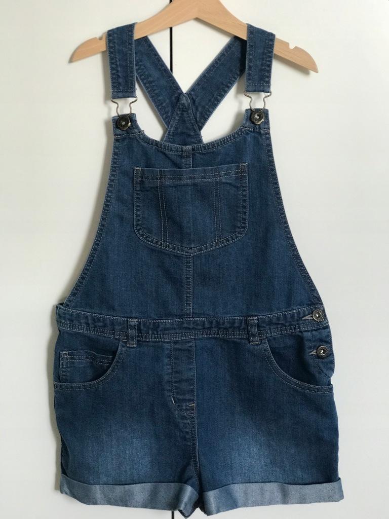 TU spodenki ogrodniczki jeans r.152cm,12lat