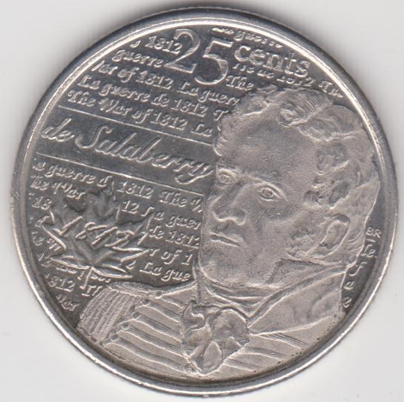 MONETA 25 CENTÓW KANADYJSKICH - NR 140