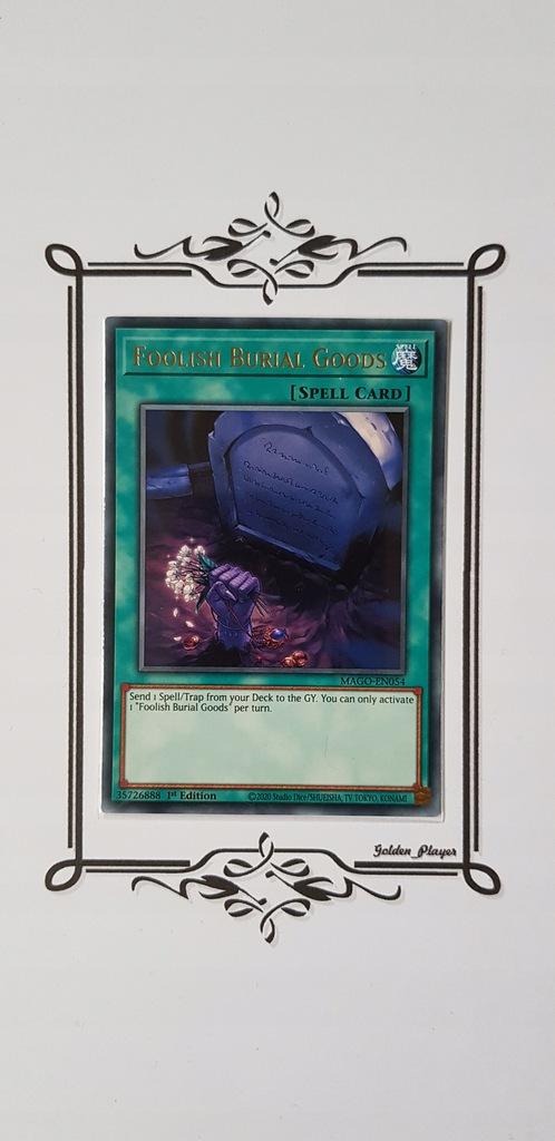 Yu-Gi-Oh! Foolish Burial Goods (Rare) Maximum Gold