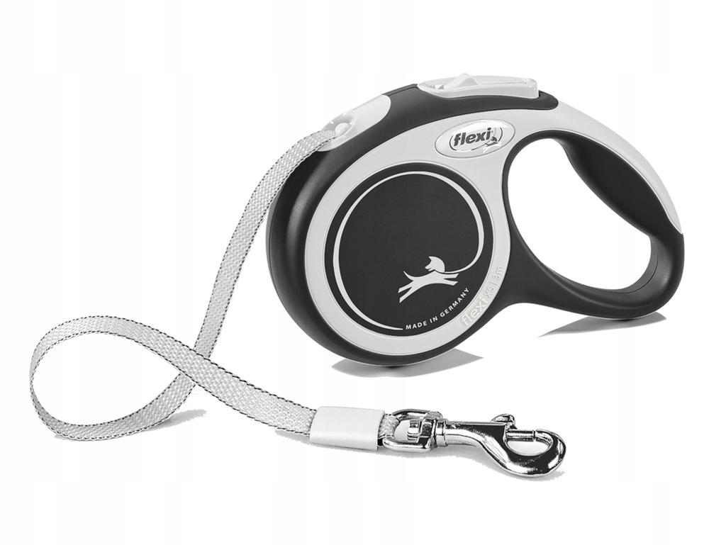 FLEXI smycz automatyczna dla psa czarna S 5m TAŚMA