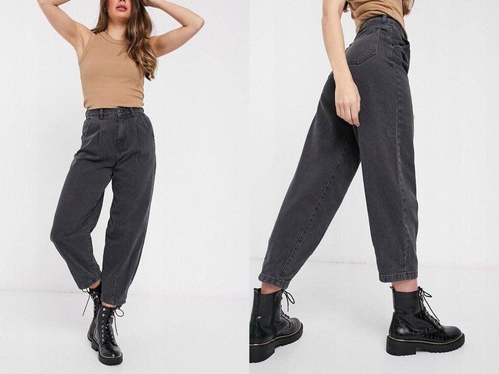 New Look Czarne jeansy szerokie nogawki XXL/44