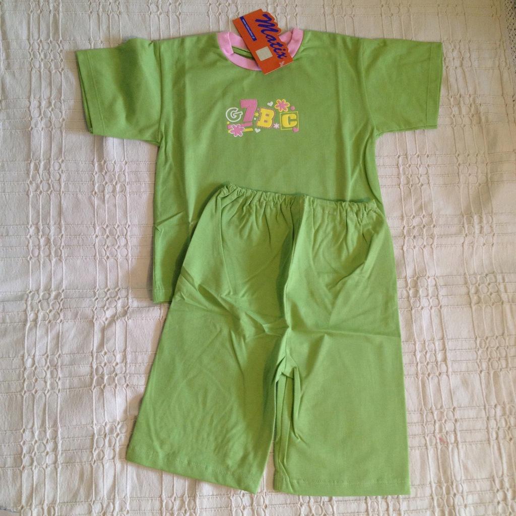 nowa piżama 110 cm krótki rękaw 100% bawełna PL