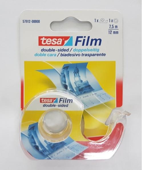 Taśma biurowa Tesa film dwustronna 7,5mx12mm