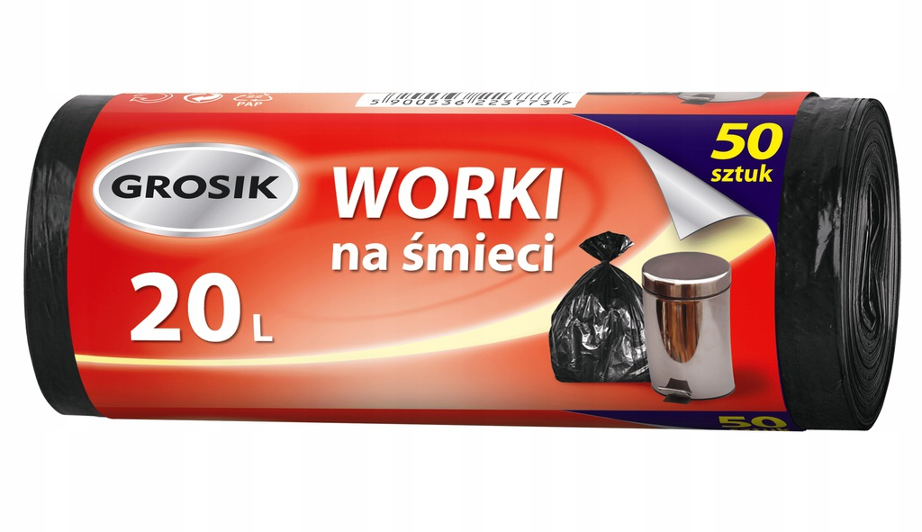 GROSIK Worki na śmieci Hd 20l. 50 szt. 3773