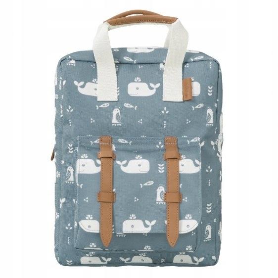 Fresk Plecak Wieloryb niebieski