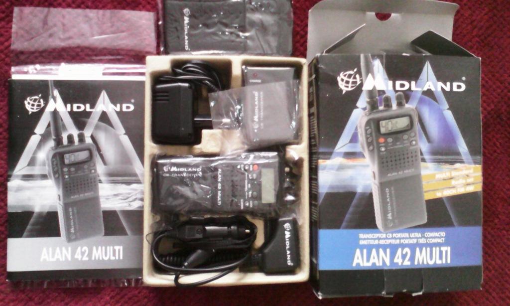 Alan 42 Multi Midland CB radio ręczne + antena kpl