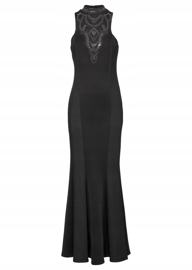 F312 BPC Sukienka wieczorowa z aplikacją 40/42