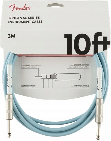 Fender Original Series Kabel 3m Daphne Blue