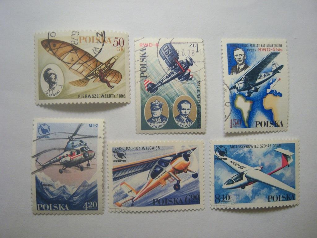 znaczki Fi2404-09 Rozwój lotnictwa polskiego1979r.