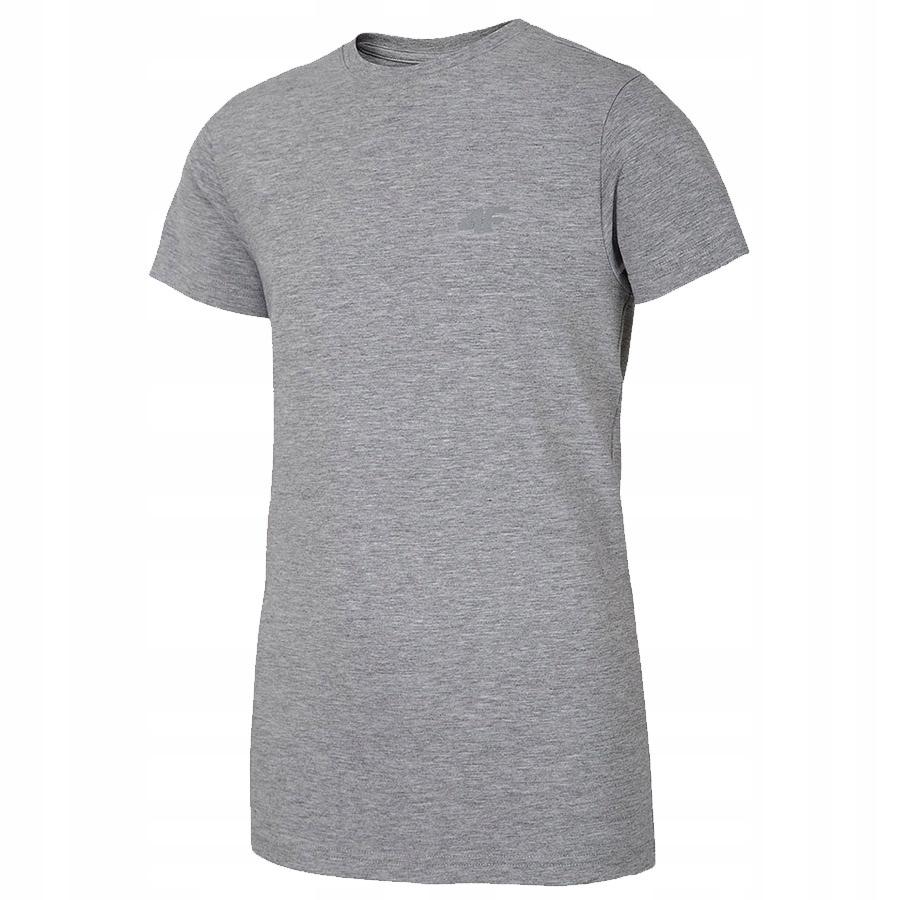 T-Shirt 4F HJL20-JTSM023B 24M szary 134 cm!