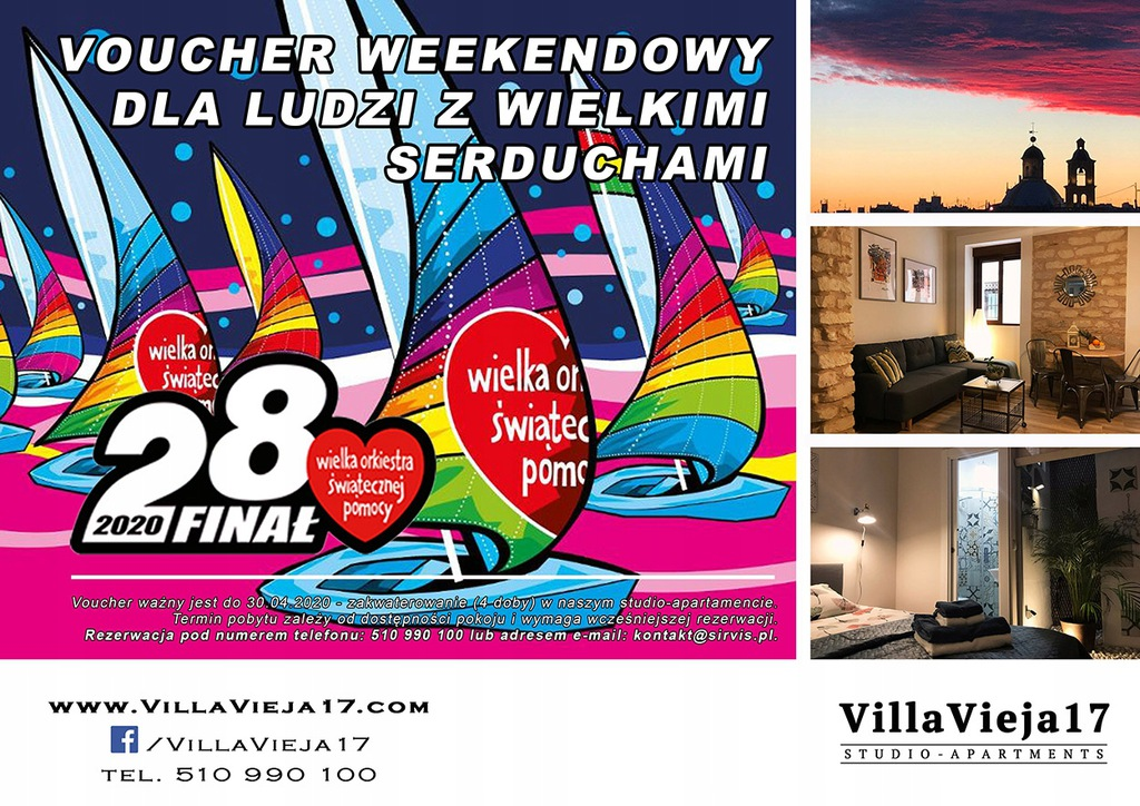 WEEKENDOWY VOUCHER - www.villavieja17.com