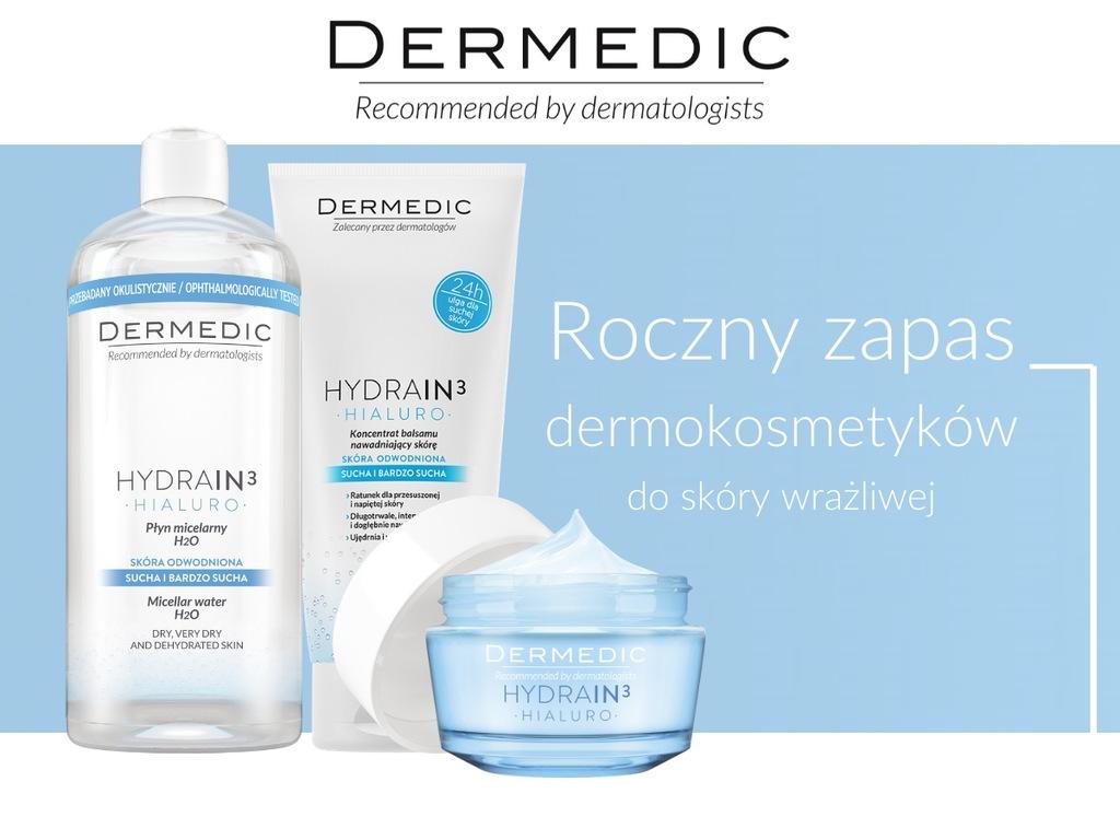 Roczny zapas kosmetyków DERMEDIC do sk. wrażliwej