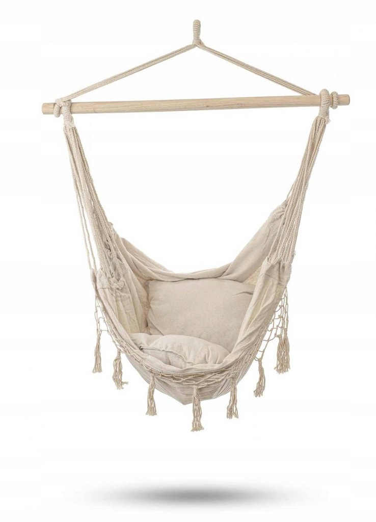 Hamak brazylijski krzesło z poduszkami ecru