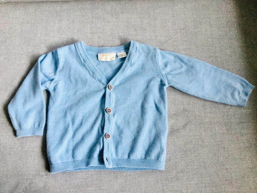 Sweterek Lupilu niebieski 3-6 mies