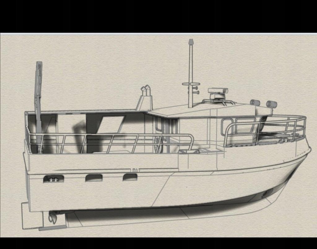 Łódź rybacka kuter kadłub forma do budowy - NOWA